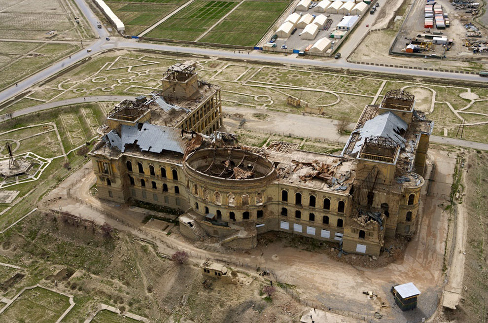 Dar-ul-aman palace from above