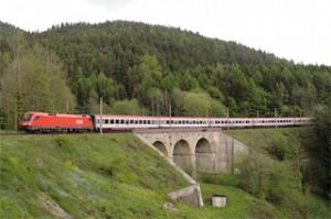Un treno EuroCity in Austria. Fonte: Wikipedia Commons
