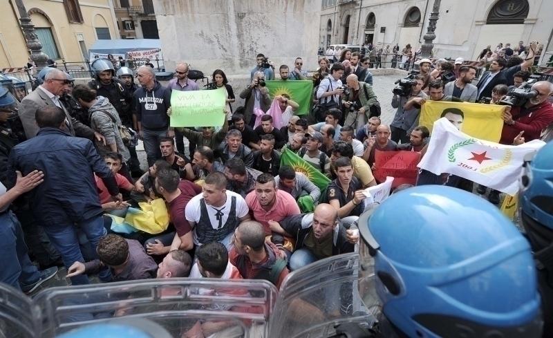 Identificati i curdi che hanno manifestato a montecitorio for Montecitorio oggi