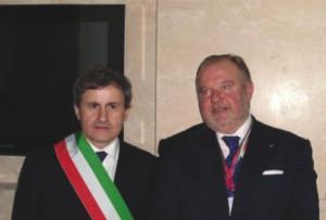 Riccardo Mancini e Gianni Alemanno