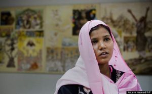 Sidra Shahzadi, daughter of Christian woman Asia Bibi who had been sentenced to death, talks to The Associated Press after meeting with Pakistani minister for Minority Affairs in Islamabad, Pakistan on Wednesday, Nov. 24, 2010. The case against Bibi, which started with a spat over people of different religions drinking from the same cup, has renewed calls for reform of Pakistan's blasphemy law, which critics say have been used to settle grudges, persecute minorities and fan religious extremism. (AP Photo/Anjum Naveed)