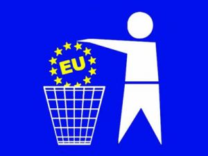 Unione Europea nel cestino