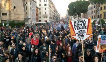 Roma non si vende corteo