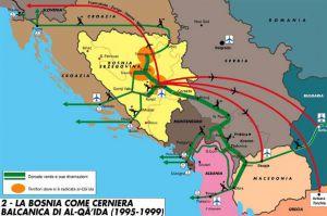 Balcani jihad mappa
