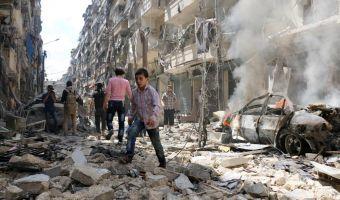 Siria Aleppo bombardata