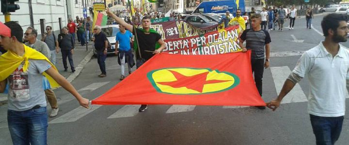 Curdi manif a roma