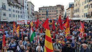 No Renzi Day a Campo de Fiori