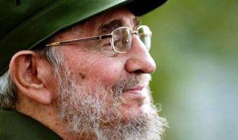 Fidel sorridente