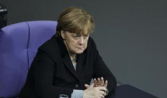 German Chancellor Angela Merkel attends the debate at the German parliament Bundestag on the crime in Cologne during New Year's Eve, in Berlin, Germany, Wednesday, Jan. 13, 2016. (ANSA/AP Photo/Markus Schreiber)