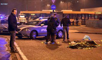 Il luogo dell'operazione di polizia in cui è stato ucciso Anis Amri, il principale sospettato per l'attentato di lunedì a Berlino - Sesto San Giovanni,  23 dicembre 2016 (ANSA/Daniele Bennati)