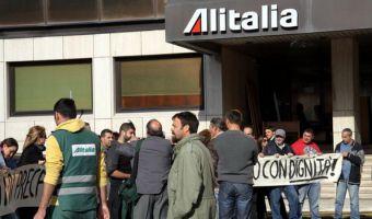 L'aeroporto di Fiumicino durante uno sciopero dei lavoratori Alitalia in una foto di archivio  ANSA / telenews