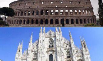 Colosseo a Roma o Duomo di Milano?