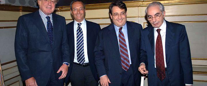 PAOLO SCARONI  ANTONIO CATRICALA' ROBERTO NAPOLETANO GIULIANO AMATO