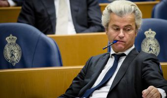 epa05234982 Dutch Party for Freedom (PVV) leader Geert Wilders during the debate in the Second Chamber in The Hague, The Netherlands, 29 March 2016, about the terror attacks last week in Brussels.  EPA/BART MAAT