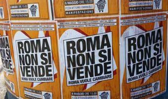 Roma non si vende manifesti sui muri