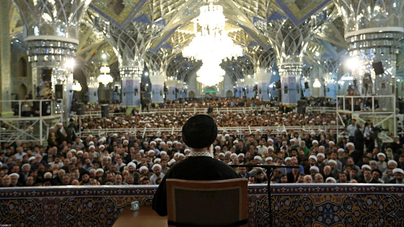 Iran's Supreme Leader Ayatollah Ali Khamenei delivers a speech in the holy city of Mashad, Iran, March 21, 2017. Leader.ir/Handout via REUTERS  ATTENTION EDITORS - THIS IMAGE WAS PROVIDED BY A THIRD PARTY. EDITORIAL USE ONLY. NO RESALES. NO ARCHIVE.