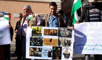 prigionieri palestinesi sit in
