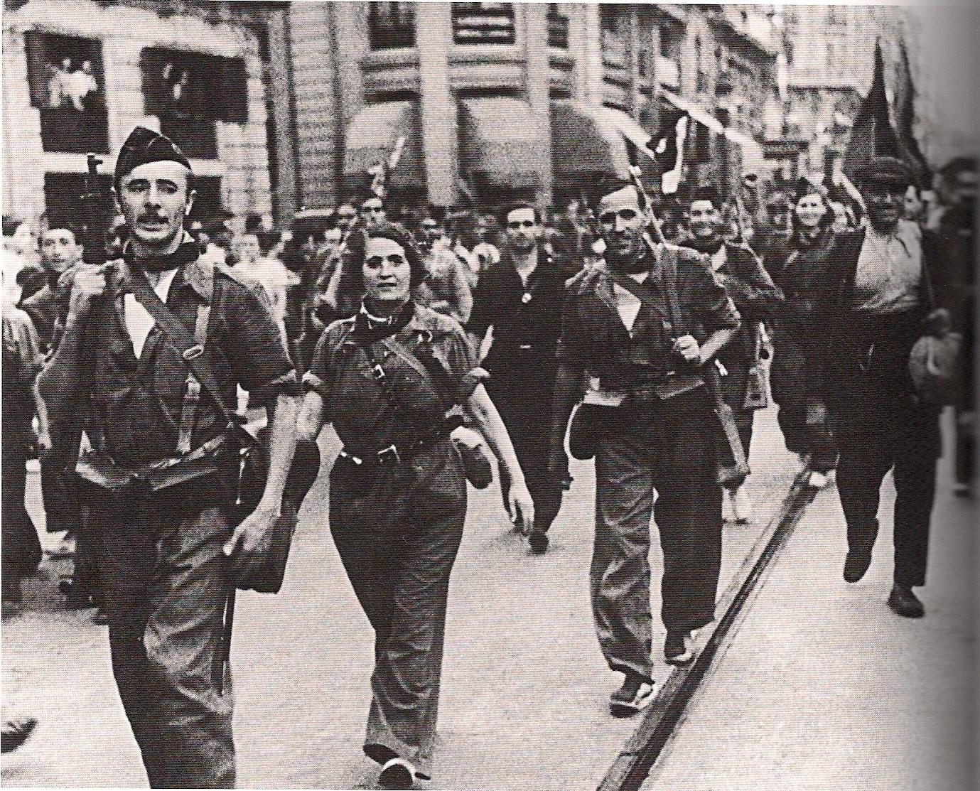 Risultati immagini per guerra spagnola antifascismo contropiano immagini
